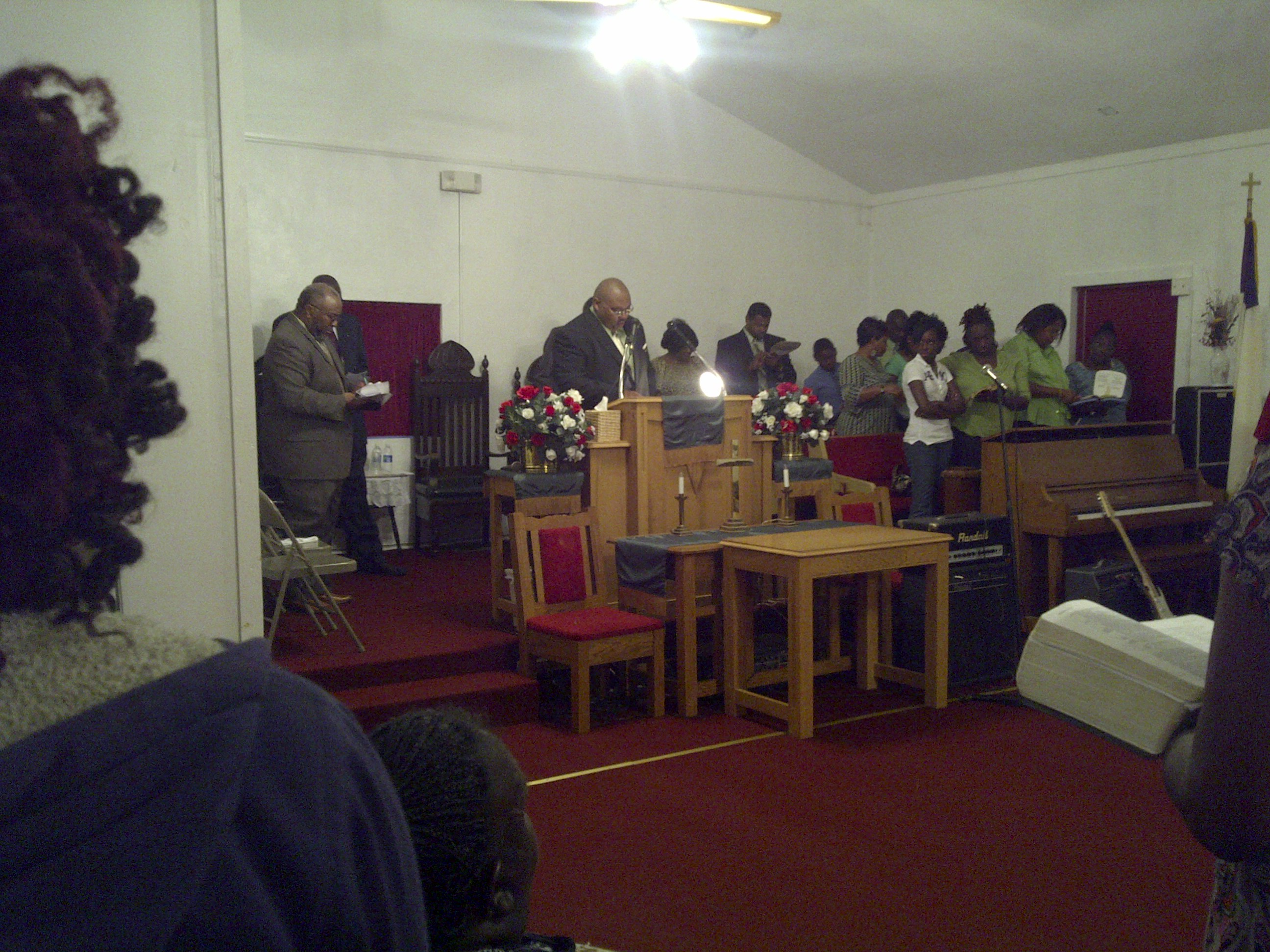 Rev. Kelvin Means and  the Community Missionary Baptist Church Choir